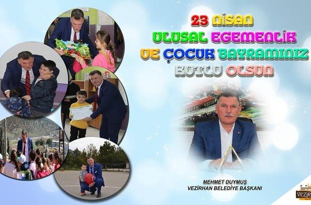 Başkan Duymuş'un 23 Nisan Ulusal Egemenlik ve Çocuk Bayramı mesajı