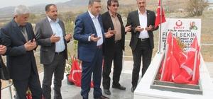 Memur-Sen'den şehit polis Fethi Sekin'in kabrine ziyaret
