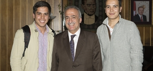Erzurum Uluslararası Öğrenci Derneği'nden Rektör Çomaklı'ya Ziyaret