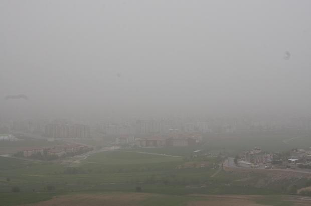 Adıyaman'da toz bulutu