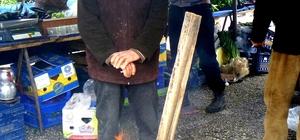 Nisan ayında pazarcılar ateşle ısındı