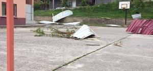 Giresun'da fırtına hasara yol açtı