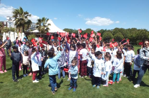 Köy okulu çocukları 23 Nisanı 5 yıldızlı otelde kutladı