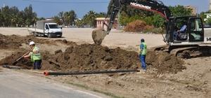 Karataş Tuzla Mahallesi'ne yeni kanalizasyon hattı döşeniyor