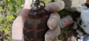 Gercüş'te PKK'ya ait el bombası ve yaşam malzemesi ele geçirildi