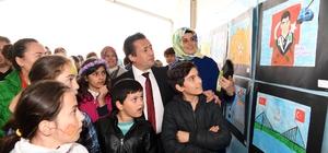 """Tuzla Belediyesi Gönül Elleri Çarşısı'na Kayıtlı Çocuklar, """"Kahramanlık""""ı Resmetti"""