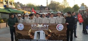 Gençler 57'nci Alay şehitleri için yürüdü