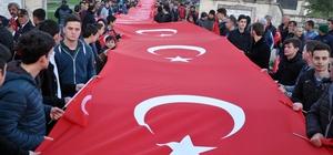 Edirne '57. Alay' şehitleri için yürüdü