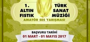 Gaziantep'te Altın Fıstık Ses Yarışması düzenleniyor