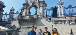 Öğrenciler eğitim için Macaristan'a gitti