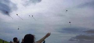 Çocuklar uçurtma şenliğinde doyasıya eğlendi