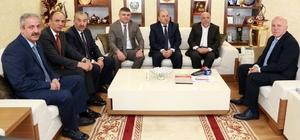 Hak-İş Konfederasyonu Genel Başkanı Arslan'dan Başkan Sekmen'e ziyaret