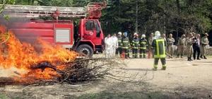 Jandarma Ulaştırma Tabur Komutanlığında yangın eğitimi