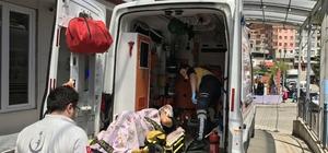 Trabzon'da trafik kazasında iki Alman turist yaralandı