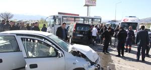 Erzincan'da zincirleme trafik kazası