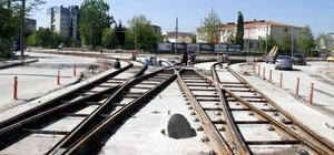 Tramvay'da ray montajının sonuna gelindi