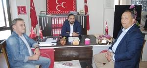 AK Parti yönetiminden MHP İlçe Başkanı Hakan Yıldız'a ziyaret