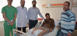 Protez kullanabilmesi için bacağı ters dikildi