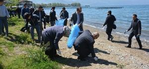 İznik gölü sahillerini temizlediler