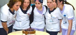 Ebelere pastalı kutlama