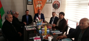 Haydar Aliyev Lisesi yöneticilerinden Asimder'e ziyaret