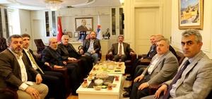 Ak Parti Erzurum İl Başkanı Öz,  AİÇÜ Rektör'ü Karabulut'u Ziyaret Etti