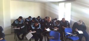 Zabıta personeline Hizmet İçi Mevzuat Sınavı