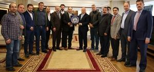 Erzurumlu işadamlarından Başkan Sekmen'e ziyaret