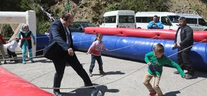 """""""Spor Park Projesi"""" çocukların yüzünü güldürüyor"""
