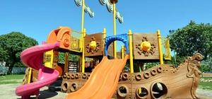 Aliağa'daki Uzunhasanlar çocuk oyun parkına kavuştu
