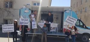 Ağrı'da 'Dünya Aşı Haftası' nedeniyle stant kuruldu