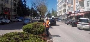 Beyşehir'deki park ve bahçelerde mesai hız kazandı