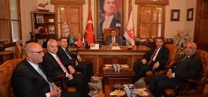 BEBKA yöneticilerinden Başkan Yağcı'ya ziyaret