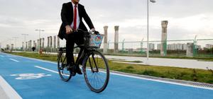 İş yeri ruhsatı alan esnafa bisiklet