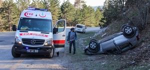 Kütahya'da trafik kazası: 1 yaralı