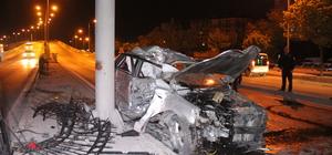 Konya'da otomobil yön levhası direğine çarptı: 1 ölü