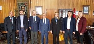 Mobbing ile Mücadele Derneği, Atatürk Üniversitesi Rektörü Prof.Dr. Ömer Çomaklı'yı ziyaret etti