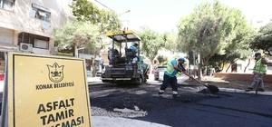 Konak'ın sokaklarına 40 bin ton asfalt