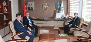 Milletvekili Eldemir ve Başkan Yalçın'dan Kaymakam Sağır'a ziyareti