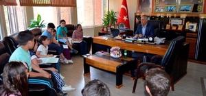 İlkokul öğrencilerinden Başkan Yaman'a ziyaret