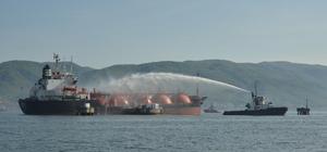 GÜNCELLEME İzmit Körfezi'nde LPG tankerinde yangın