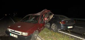Biga'da trafik kazası; 1 yaralı