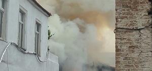 Söke'nin tarihi Rum mahallesinde yangın paniği