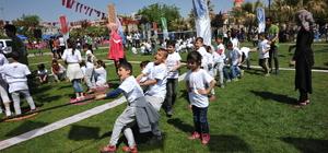 """Gaziantepli ve Suriyeli çocuklar """"Olimpik Gün""""de eğlendi"""