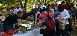 Didim Vegan Festivalinin ikinci günü Vegan kahvaltıyla başladı