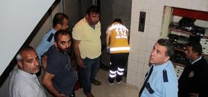 Polisten saklanan hırsız asansör boşluğuna düştü
