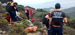 Yaralanan dağcıyı AFAD kurtardı