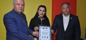 İHA Kars temsilciliğine Azerbaycan'dan plaket
