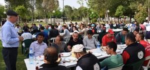 Başkan Kale 1 Mayıs'ı işçilerle birlikte kutladı