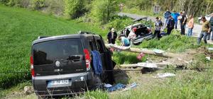 Tekirdağ'da trafik kazası : 4 yaralı
